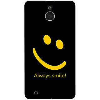 Casotec Happy Quote Design 3D Printed Hard Back Case Cover for Microsoft Lumia 850