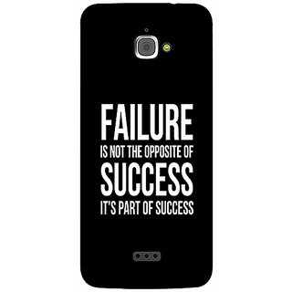 Casotec Motivational Quote Design 3D Printed Hard Back Case Cover for InFocus M350