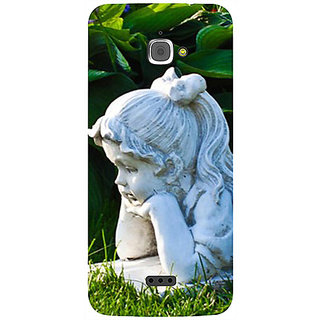 Casotec Girl Design 3D Printed Hard Back Case Cover for InFocus M350
