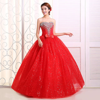 KHUSBOO DESIGNER Designed NEW BRANDED STEER MADONNA DESIGNER BRIDAL WEDDING CRYSTALS QUEEN HOT PARTY WEAR BALL DESIGNER