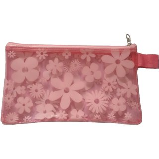 Viva Fashions Printed Pouch (Pink)