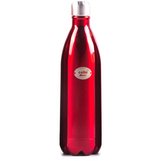 Cello Swift Steel Flask (1000 ml) Red
