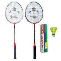 Cosco CB-90 Badminton Racket Pair With Aero 787 Nylon Shuttle Cock- Badminton Kit