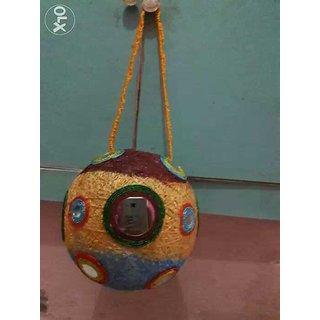 Handmade Kandil using threads.