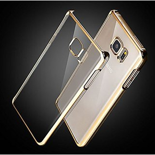 HTCIS Golden  Noble Series Transparent Back Cover for Samsung Galaxy S6 Edge Plus
