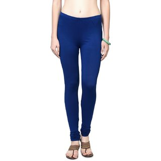 Blue Colors Cotton Lycra Leggings