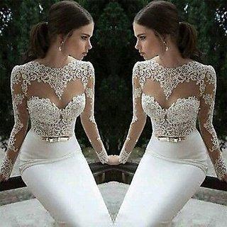KHUSBOO DESIGNER Designed NEW BRANDED STEER MADONNA DESIGNER BRIDAL WEDDING GOWN