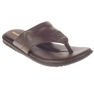 Khadims Brown Mens Slip-On Sandal