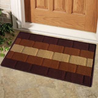 STATUS Iris door mat brown 15 x 23 1PC