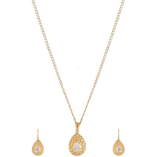 World of Silver Gold 92.5 Sterling Silver Pendant Set for Women