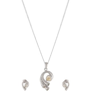 World of Silver 92.5 Sterling Silver Pendant Set for Women