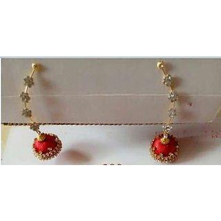 Handmade Silk Thread Earring