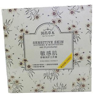 Shrih Skin Soothing  Moisturizing Toner, Essence and Cream Set of 3 Pcs