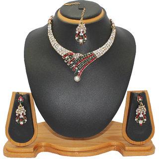 Soni Art Jewellery Simple diamond necklace set (0009)