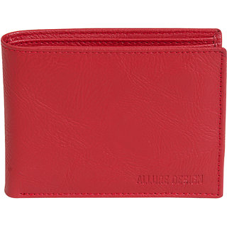 Allure Design Mens Formal Non Leather Red Colour Wallet