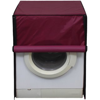 Glassiano Mehroon Waterproof  Dustproof Washing Machine Cover for Front Loading Kelvinator KF6091WH-GWG, 6 Kg washing Machine