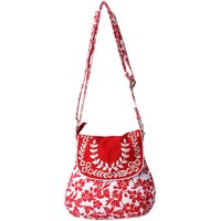Bf White Painting With Red Flower And Red Flap Design S