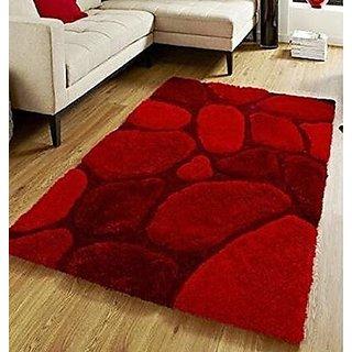 SIYA RAM Polyster Carpets-Red-55x139 cm