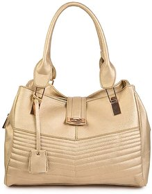 Diana Korr Gold Plain Handbag