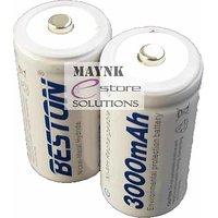 2 SC Beston Rechargeable Batteries 3000 MAh Ni-MH Nickel Metal Hydride Sub C