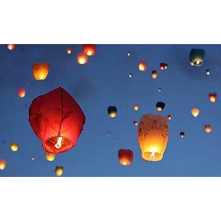 Jaycoknit Flying Saucers Flying Lantern Sky Lantern-Pack of 5