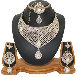 Soni Art Jewellery Latest diamond bridal necklace set jewellery (0014)