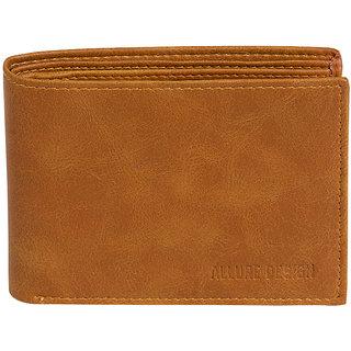 Allure Design Mens Formal Non Leather Tan Colour Wallet
