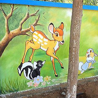 Appu Art Small Deer living forest