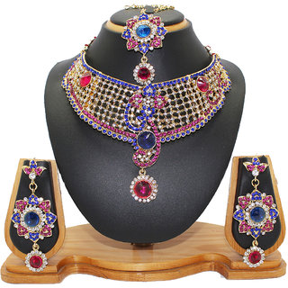 Soni Art Jewellery Royal diamond fashion jewellery necklace set (0015)