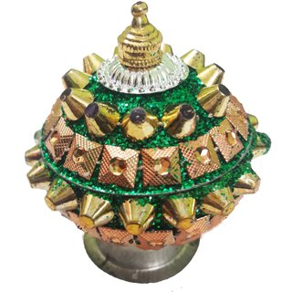 Attractive Kumkum Sindoor Box-Green Color
