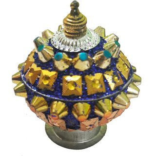 Attractive Kumkum Sindoor Box- Dark blue Color