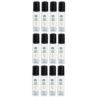 Safecare Roll On Aromatherapy Refreshing Oil - 10 ml (Lemon, Pack of 12)