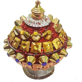 Attractive Kumkum Sindoor Box-Red Color