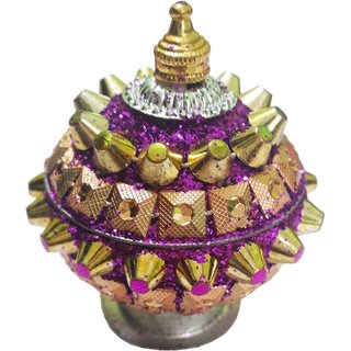 Attractive Kumkum Sindoor Box- Purple Color