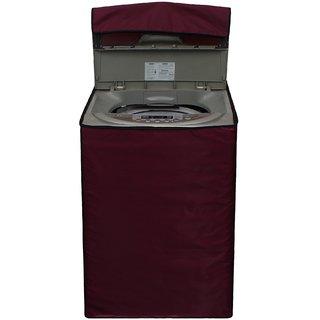Glassiano Mehroon Waterproof  Dustproof Washing Machine Cover for Godrej WT Eon 650 PHU fully automatic 6.5 kg washing machine