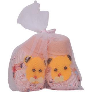 Jyonee Lifestyle cream teddy booties for kids