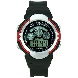 Zeit black digital rubber watch for kids
