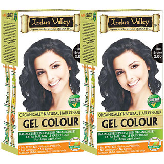 Buy Indus valley Organically Natural Extra safe Gel Dark Brown 3.00 ...
