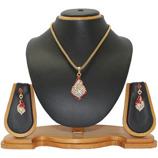 Soni Art Jewellery Part wear diamond pendant set (0018)