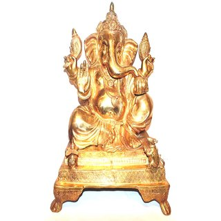 Divine Gods Lord Shree Ganesha brass statue and Idol - 48 cms