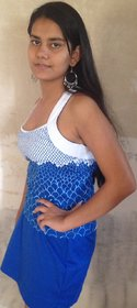 LBH Lily's of Beverly Hill Top/T-Shirt & Skort with Blue Coloured