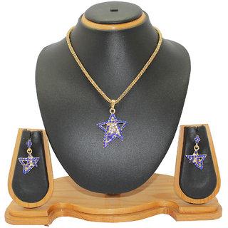 Soni Art Jewellery Star dimond fashion pendant set (0022)