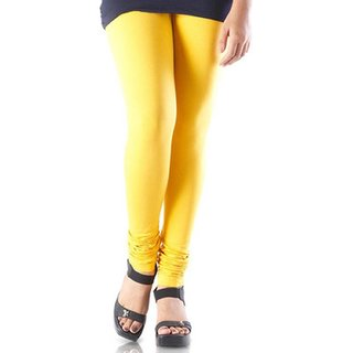 Fashions Dark Yellow Cotton Lycra Ruby Design Legging