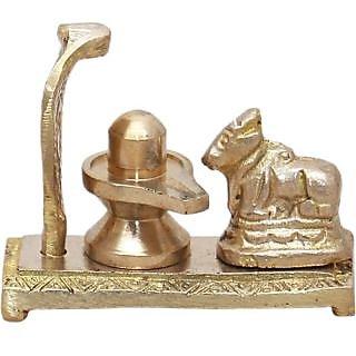 Hellopunditji Shiv, Naag  Nandee Idol Showpiece - 4.5 cm