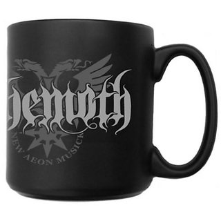 Black Printed Coffee Mug