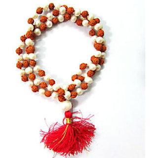 Rudraksha Pearl Combination Mala, Rudraksha Mala, Moti Mala 108+1 Rosaries