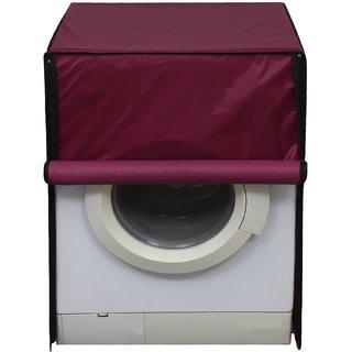Glassiano Mehroon Waterproof  Dustproof Washing Machine Cover for Front Loading LG FH4U1JBSK4 10.5 Kg Washing Machine
