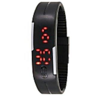 Zeit black silicone strap watch for boys
