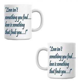 Love isnt White Coffee Mug