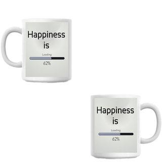 Hapiness White Coffee Mug